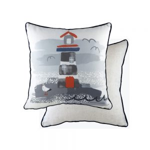 Nautical Piped Lighthouse 43cm Cushion
