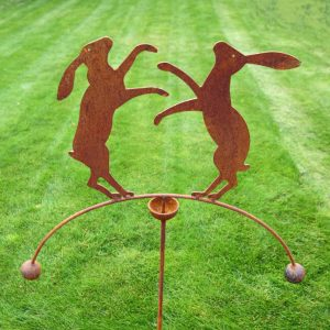 Boxing Hares Wind Rocker Double Ball
