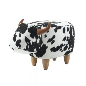 Libby The Cow Footstool Black