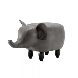 Effie The Elephant Footstool - Grey