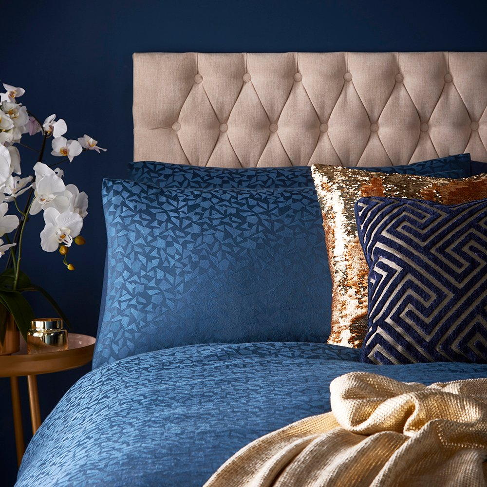 Tess Daly Topaz Pillowcase Pair Midnight