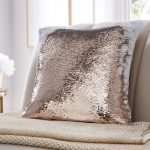 Tess Daly Sequin Rose Gold Cushion 43x43cm