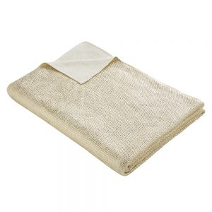 Tess Daly Gold Knit Throw 130x170cm