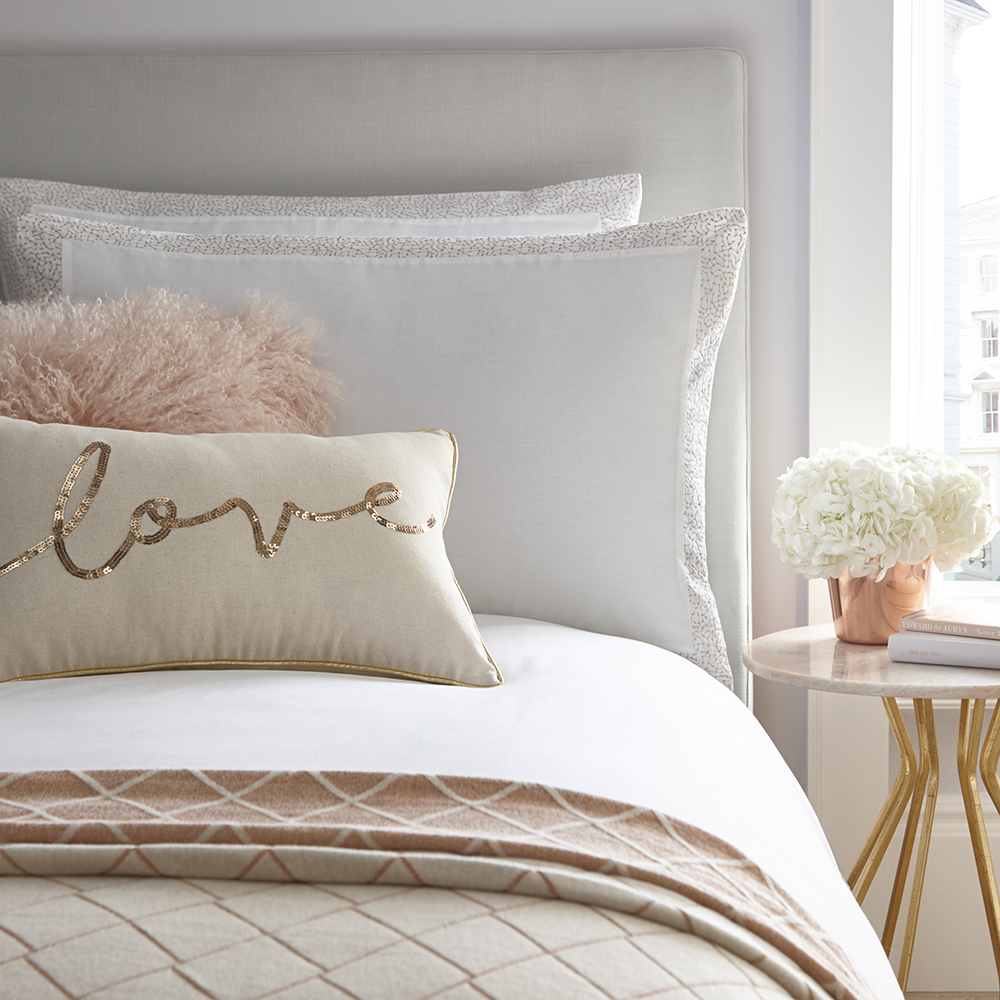 Tess Daly Amber Pillowcase Pair Rose Gold