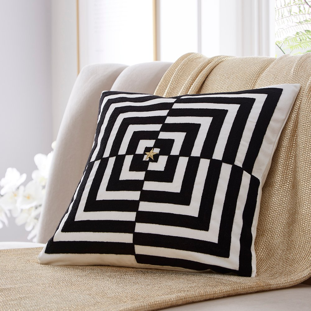 Tess Daly OP Art Cushion