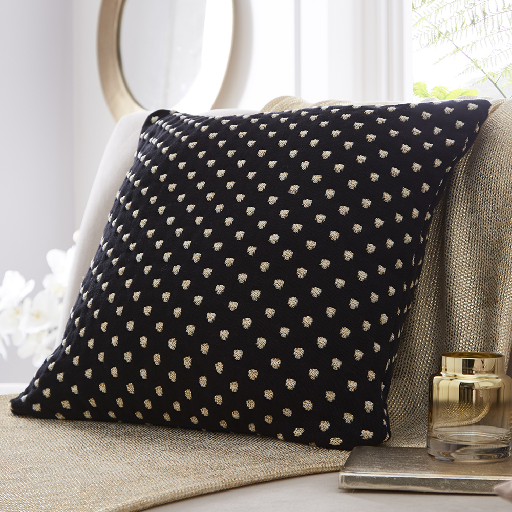 Tess Daly Polka Knit Cushion 50x50cm