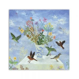 Table Of Birds Greeting Card