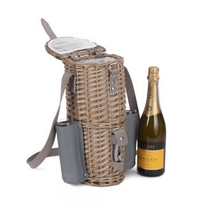 Single Bottle & Champagne Glass Carrier