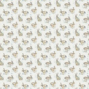 Hurtling Hares PVC Tablecloth Fabric