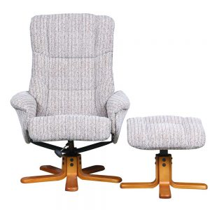 Langley Swivel Recliner Chair & Footstool