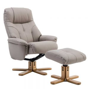 DEBEN SWIVEL RECLINER CHAIR & FOOTSTOOL