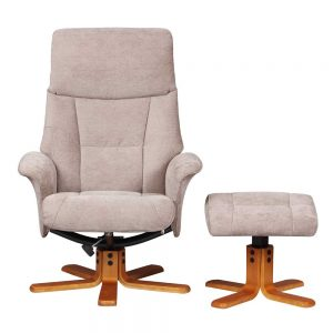 Marlesford Swivel Recliner Chair with Footstool