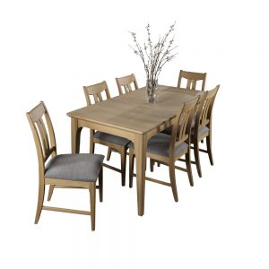 New England Extending Dining Table & 6 Dining Chairs