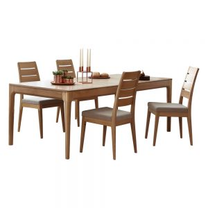 Ercol Romana Small Extending Dining Table & 4 Dining Chairs