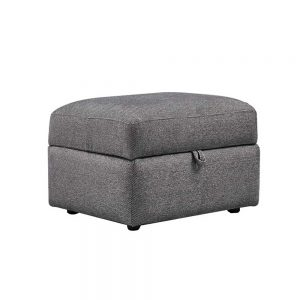 CLEMENCE STORAGE FOOTSTOOL /  FABRIC