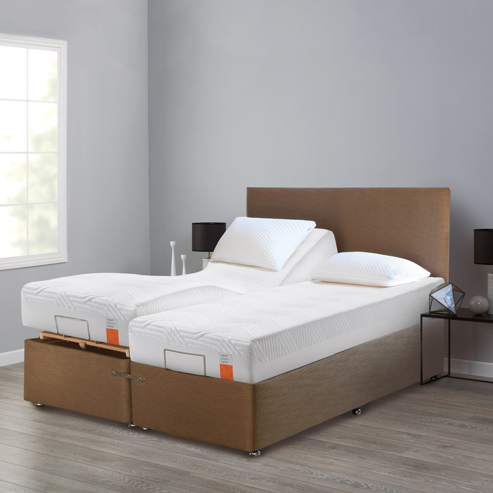 NEW ARDENNES DEEP ADJUSTABLE AND MASSAGE 180X200CM BASE WITH FOOT AND SIDE DRAWERS } /