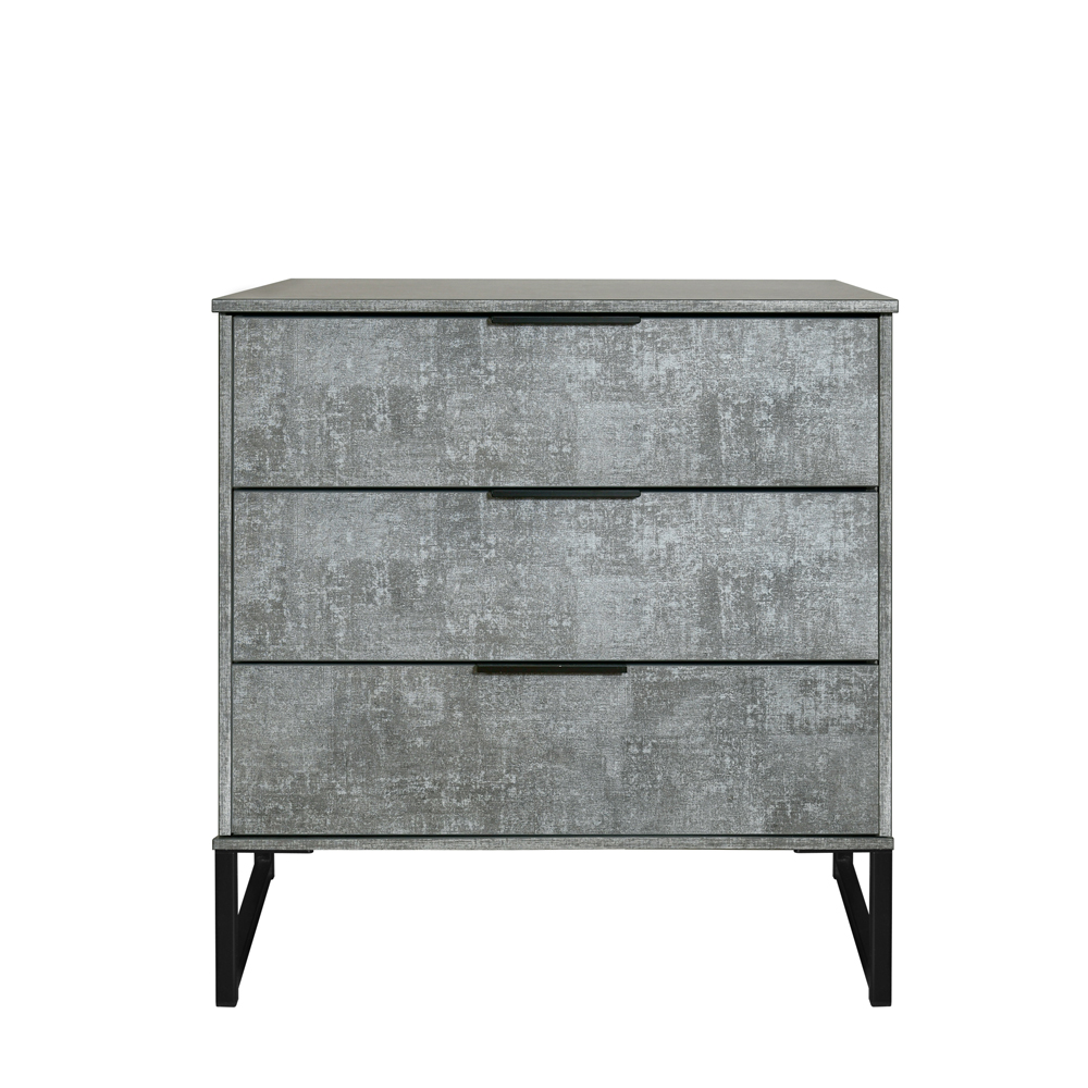 Dakota 3 Drawer Chest Pewter