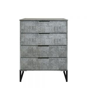 Dakota 4 Drawer Chest Pewter