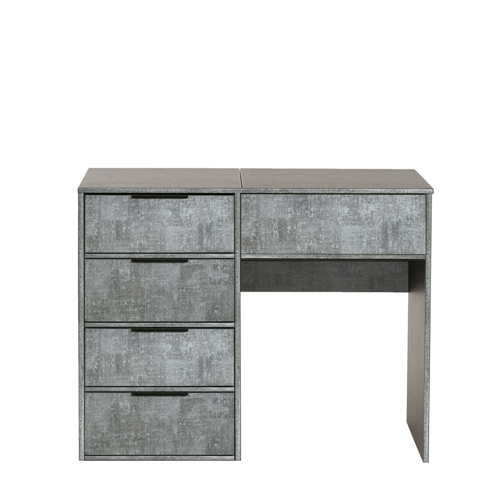 Dakota Vanity Unit With Flip Mirror Pewter