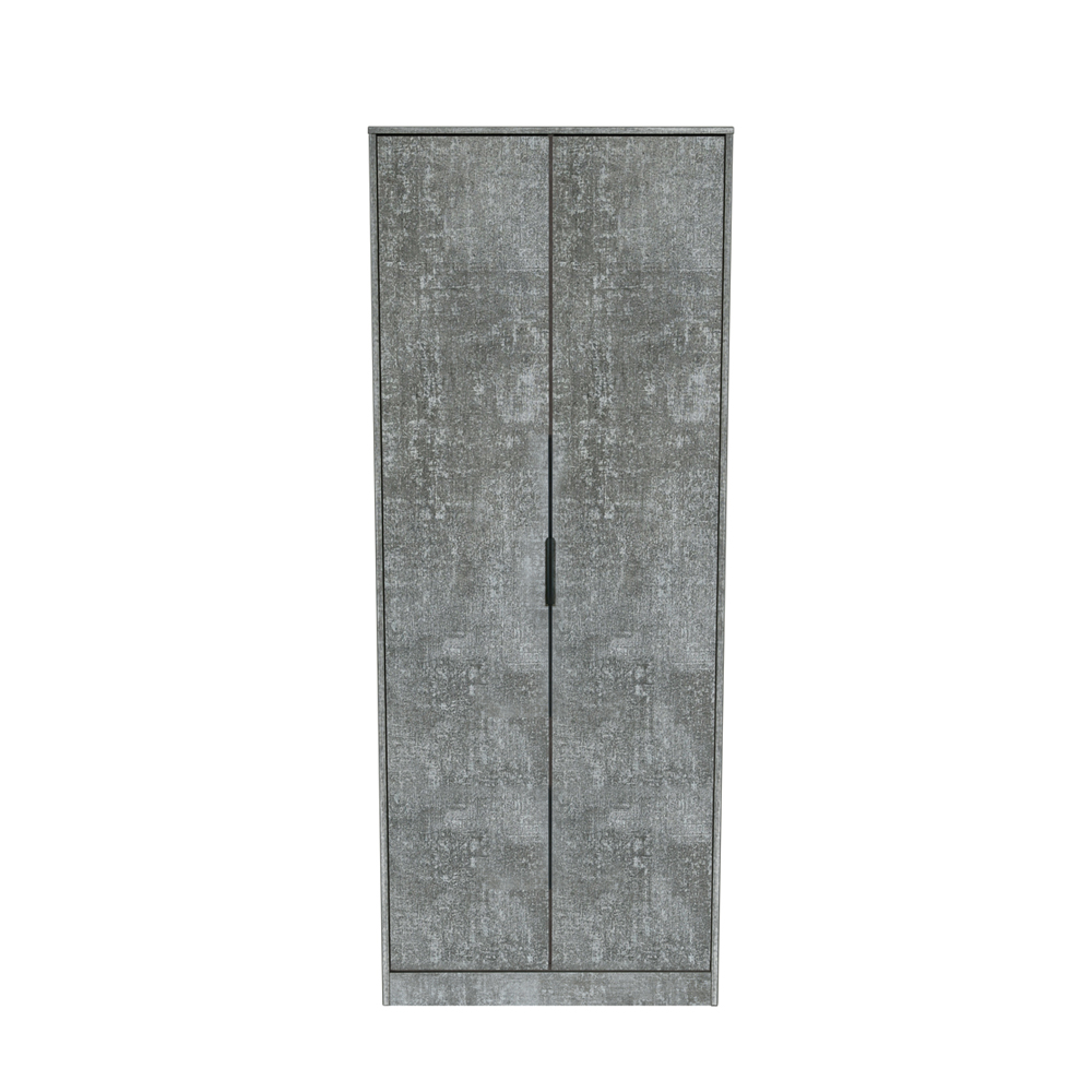 Dakota 2 Door Wardrobe Pewter