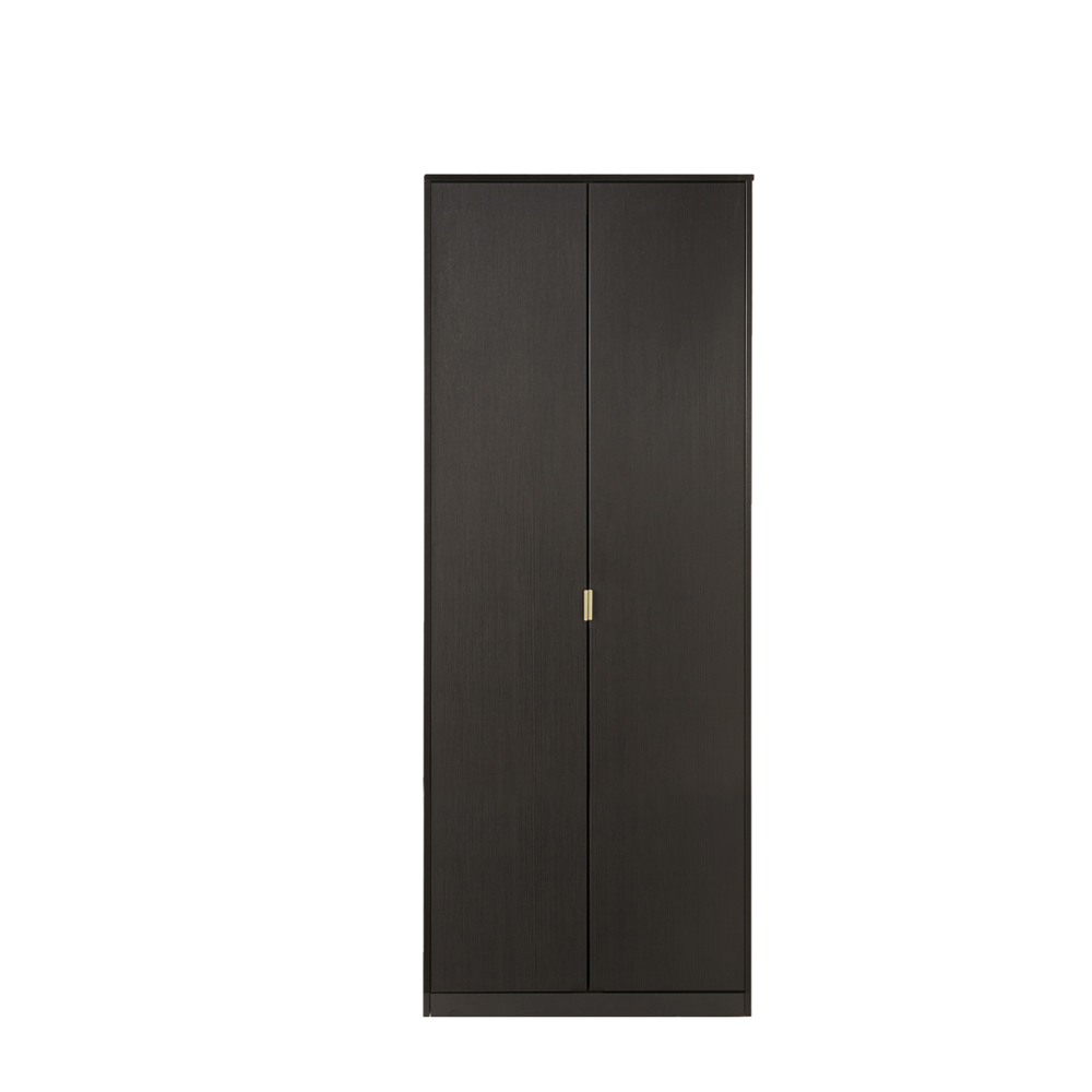 Dakota 2 Door Wardrobe Black