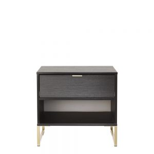 Dakota Double 1 Drawer Locker Black