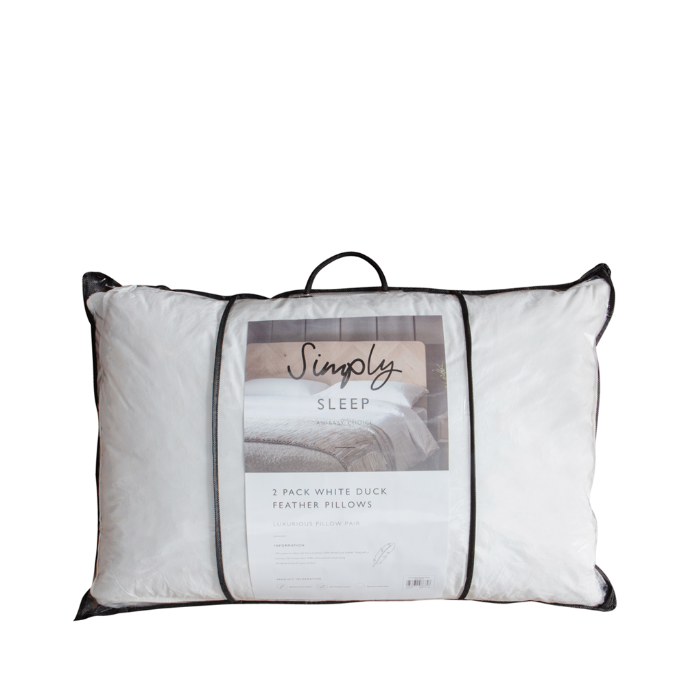 Simply Sleep Duck Feather Pillow Pair