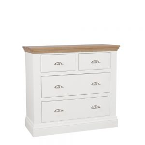 Chatsworth Painted & Oak Premier 2+2 Drawer Chest Ice White