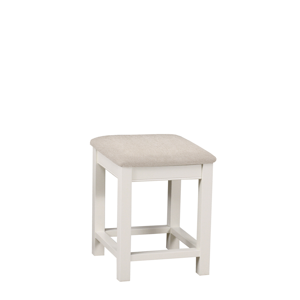 Chatsworth Painted & Oak Premier Bedroom Stool Ice White