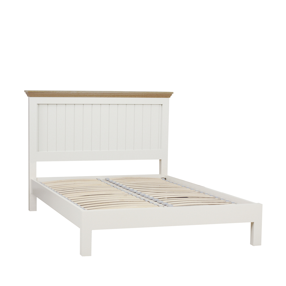 CHATSWORTH PAINTED & OAK TOPS PREMIER KING PANEL BED L/F END IW/LACQ ONLY (self assembly)