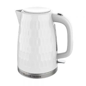Honeycomb Textured Kettle 1.7L White