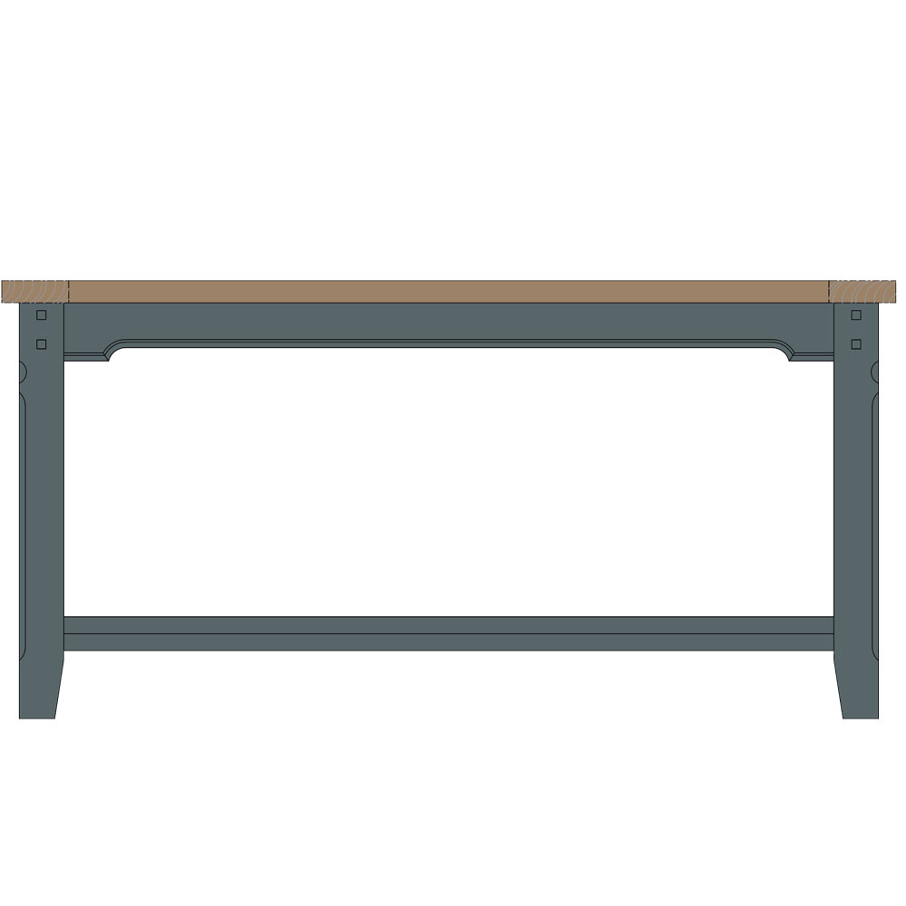 Tiverton Coffee Table with Shelf