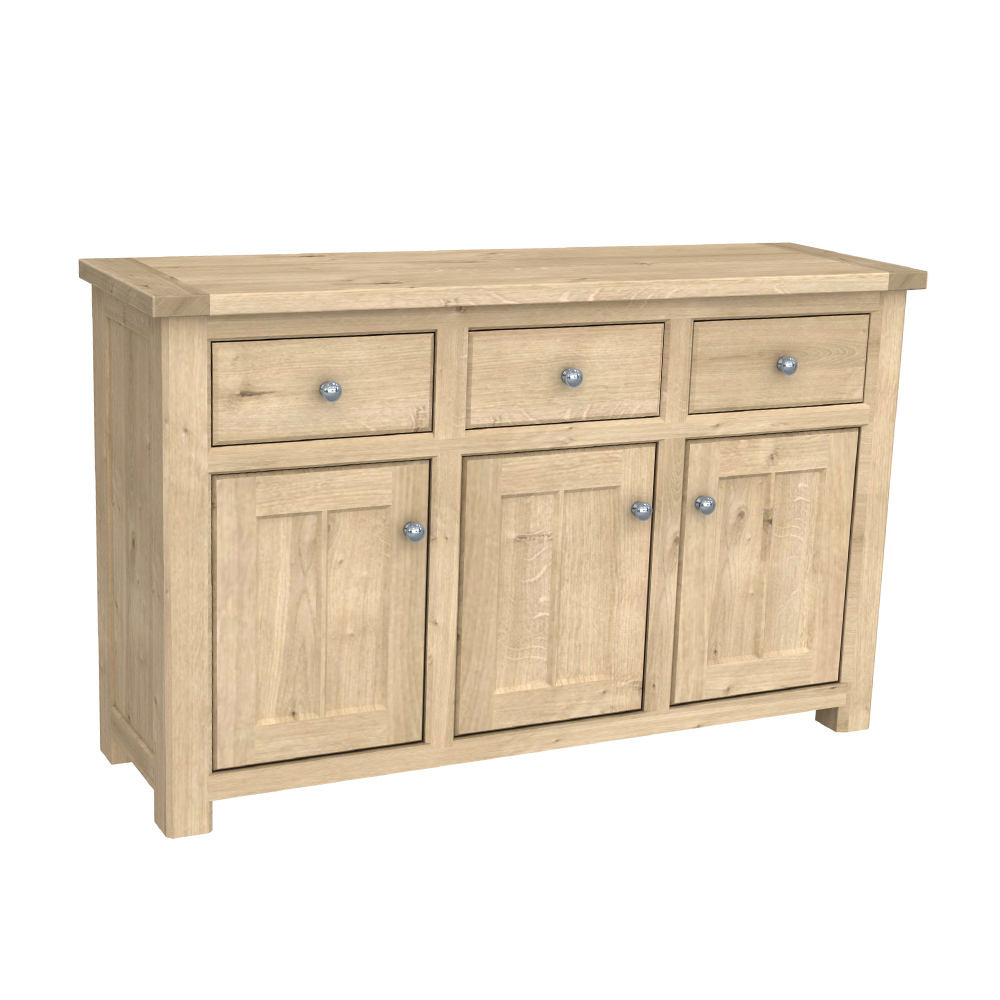 Brittany 3 Door Sideboard Oak