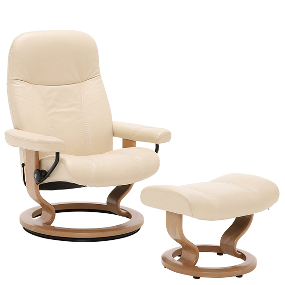 CONSUL (M) 1005315 CHAIR WITH FOOTSTOOL SIGNATURE BASE / GROUP 5 FABRIC  /