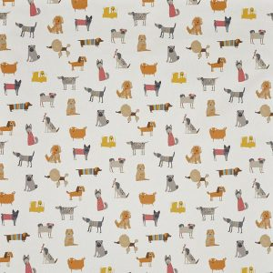 Woof Butterscotch PVC Tablecloth Fabric