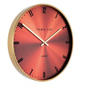 "THOMAS KENT 21"" JEWEL WALL CLOCK GARNET"