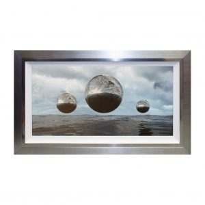 Silver Planetary Seascape