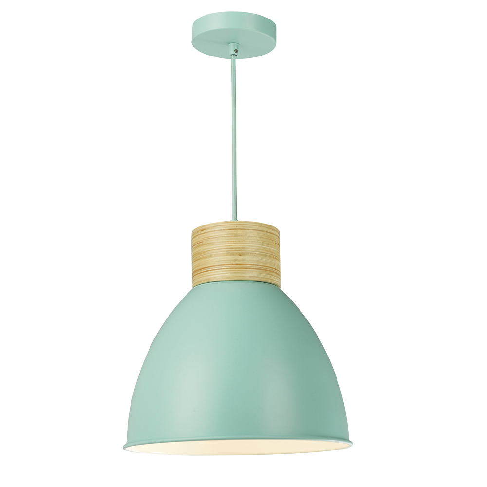 Adna Pendant Green & Wood