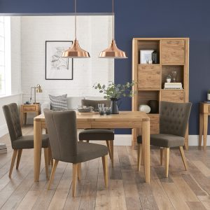 Hillingdon Extending Dining Table & 4 Upholstered Chairs