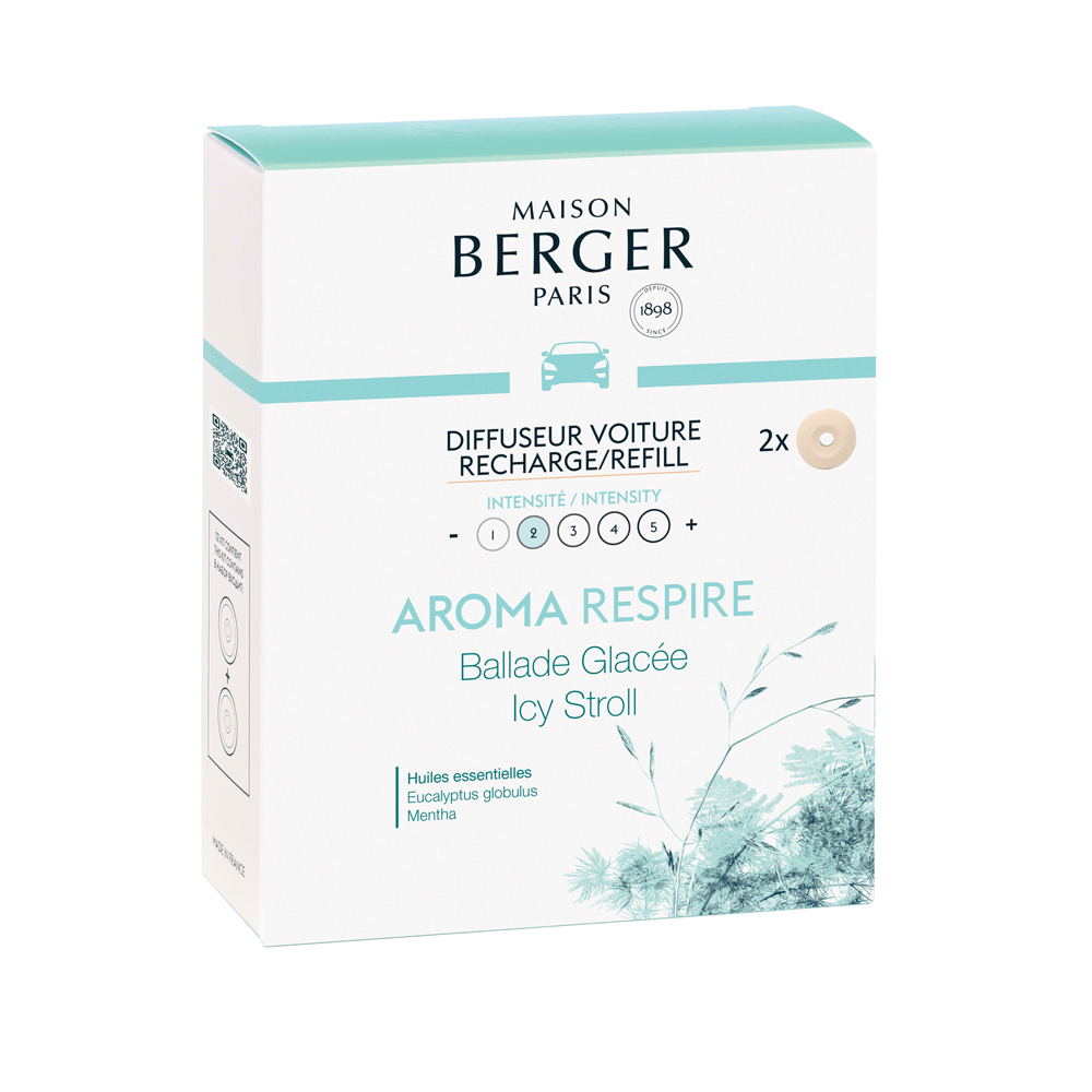 Maison Berger Icy Stroll Car Diffuser Refills