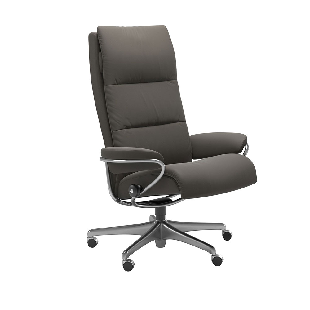 TOKYO 1353097 HIGH BACK OFFICE CHAIR (STEEL) / FABRIC /