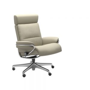 TOKYO 1354097 OFFICE CHAIR WITH ADJUSTABLE H/REST (STEEL) / FABRIC /