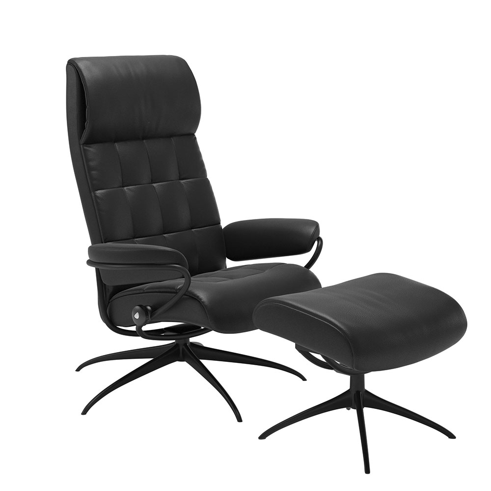 LONDON 1340345 HIGH BACK STAR CHAIR WITH FOOTSTOOL / CORI /
