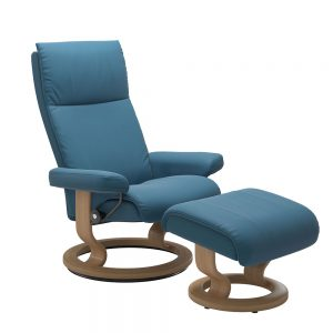 AURA (S)1342015 CHAIR WITH FOOTSTOOL CLASSIC BASE / NOBLESSE /