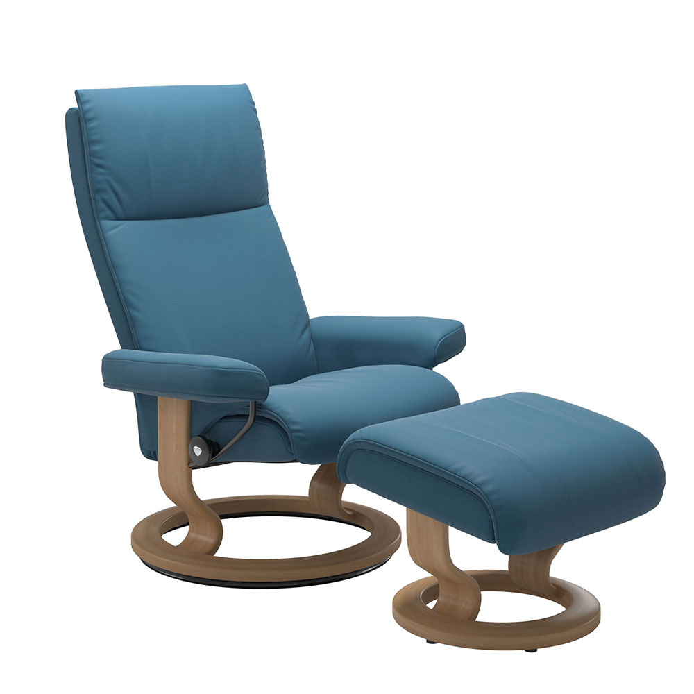 AURA (M) 1343015 CHAIR WITH FOOTSTOOL CLASSIC BASE / PALOMA /