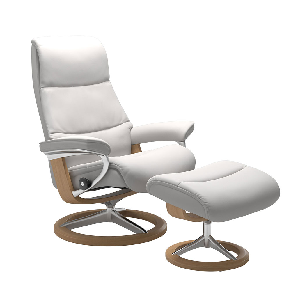 VIEW (S) 1306015 CHAIR WITH FOOTSTOOL CLASSIC BASE / PALOMA /