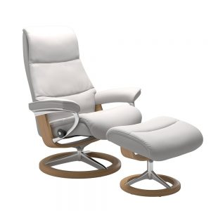 VIEW (M) 1307315 CHAIR WITH FOOTSTOOL SIGNATURE BASE / GROUP 5 FABRIC  /
