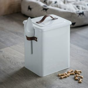 Pet Bin With Leather Handle Medium