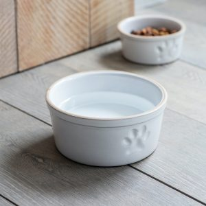 Pet Bowl With Paw Print Large