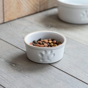Pet Bowl With Paw Print Small